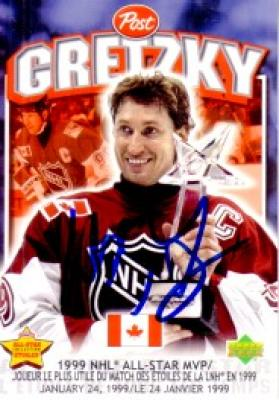 Wayne Gretzky autographed 1999 NHL All-Star Game MVP card