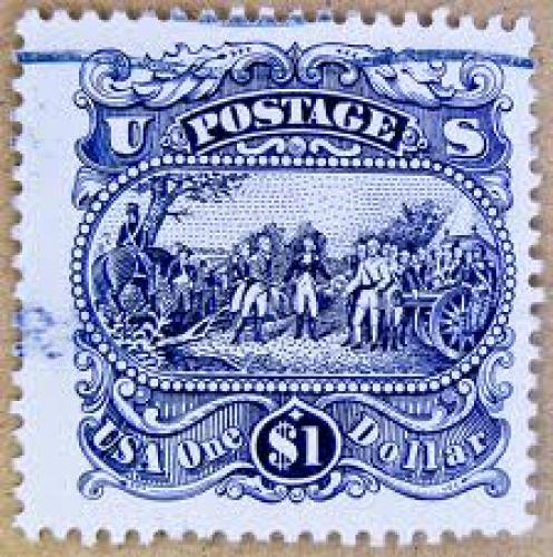Stamps;  Wonderful stamp USA $ 1.00 Dollar u.s. postage stamps