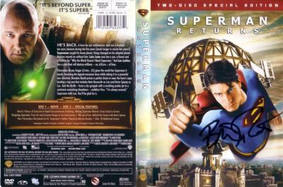 Brandon Routh autographed Superman Returns DVD insert