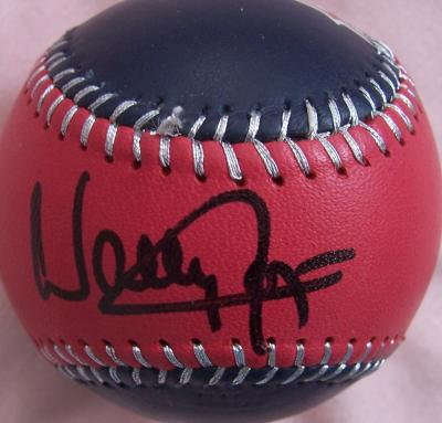 Wally Joyner autographed Angels baseball