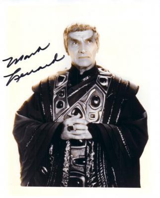 Mark Lenard (Sarek) autographed vintage 8x10 Star Trek photo