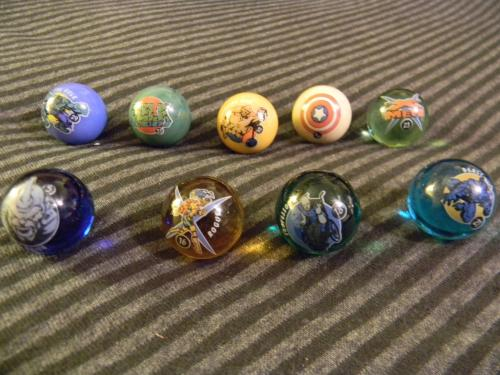 Comic Marbles 9 all together
