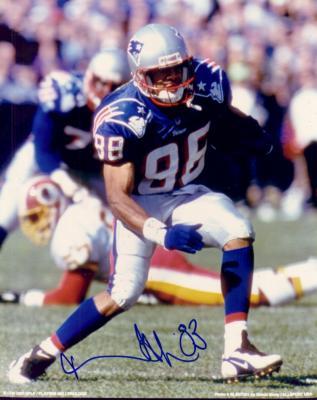 Terry Glenn autographed 8x10 New England Patriots photo