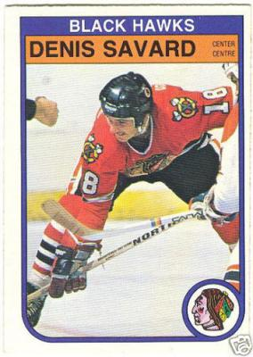 Denis Savard Chicago Blackhawks 1982-83 OPC card #73