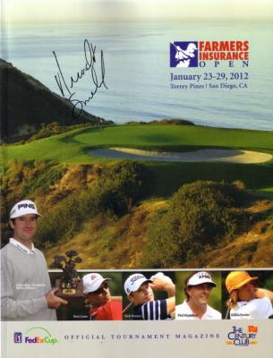 Brandt Snedeker autographed 2012 Farmers Insurance Open program
