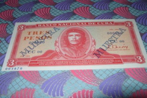Cuba 3 Pesos specimen