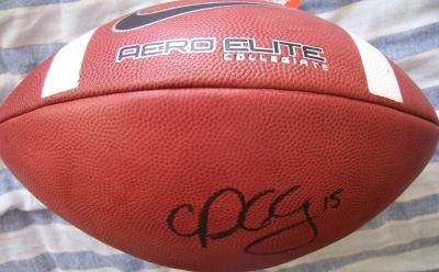 Patrick Chung (Oregon) autographed Nike Aero Elite leather football