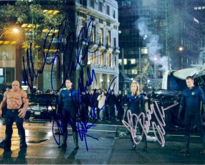 Jessica Alba Michael Chiklis Chris Evans Ioan Gruffudd autographed Fantastic 4 8x10 photo