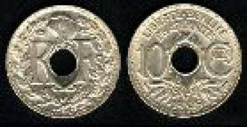 10 centimes; Year: 1938-1939; (km 889)