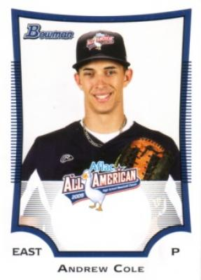 Andrew (A.J.) Cole 2009 AFLAC Bowman Rookie Card
