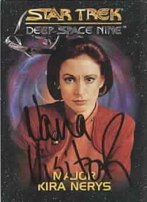 Nana Visitor autographed Star Trek Deep Space Nine Major Kira card
