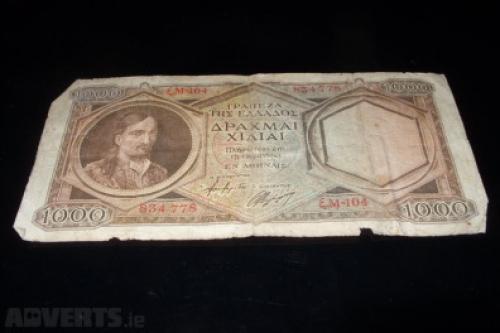 Greece 1000 drachmas-1944/5-RARE