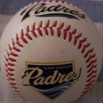 San Diego Padres logo Fotoball baseball