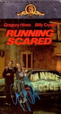 Gregory Hines autographed Running Scared video