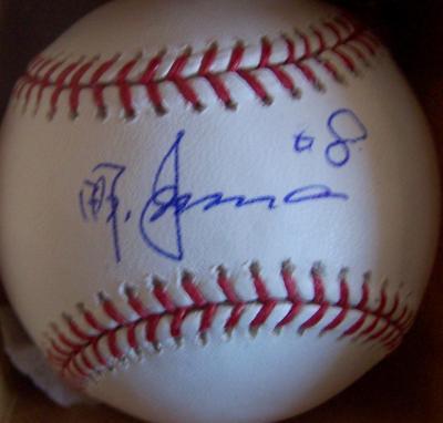 Akinori Iwamura autographed MLB baseball