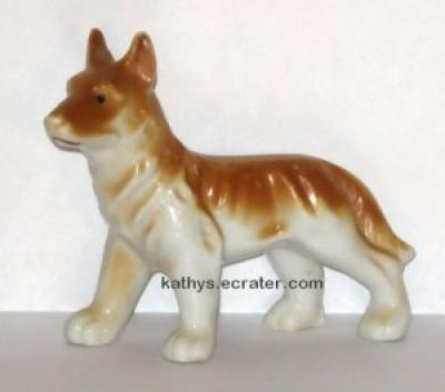 Vintage Japan Porcelain German Shepherd Dog Animal Figurine