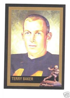 Terry Baker Oregon State Heisman Trophy winner card