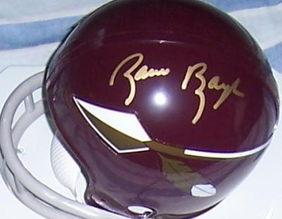 Sammy Baugh autographed Washington Redskins mini helmet