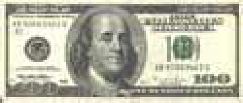 100 Dollars; Issue of 1996-1999; (enlarged portraits)