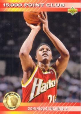 Dominique Wilkins Hawks 1992-93 Upper Deck 15000 Point Club insert card