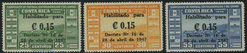 Overprints 3v; Year: 1947