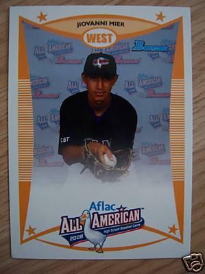 Jiovanni Mier 2008 AFLAC Bowman Rookie Card