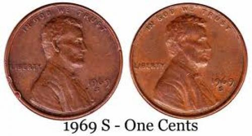 Coins; RARE- 1969 S Mint ONE CENT USA Coins - Dilsukh Nagar
