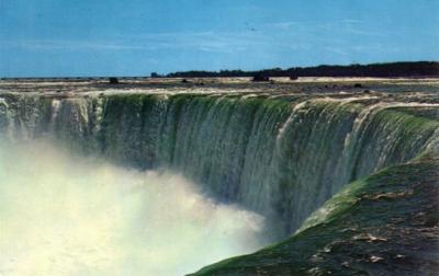 Niagara Horseshoe Falls 1960s color postcard