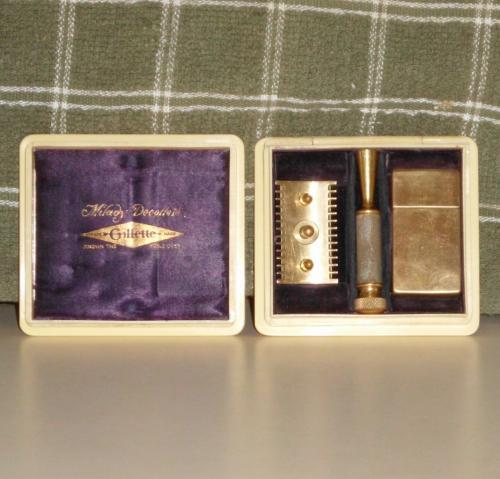 1915 Gillette Milady Decollete Gold Safety Razor