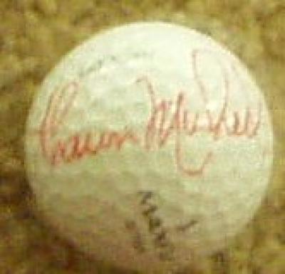 Shaun Micheel autographed golf ball