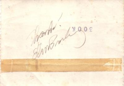 Elvis Presley autograph signed in 1957 with letter of authenticity
