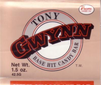 Tony Gwynn 1990 chocolate bar wrapper