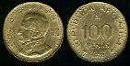 100 Pesos; Year: 1978;   (km 82); SAN MARTIN 200TH ANIV