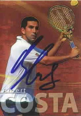 Albert Costa autographed 2000 ATP Tour tennis card