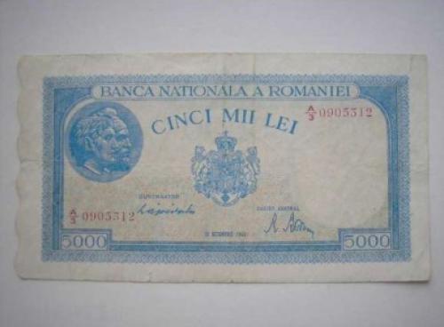 Banknote Romania 5000 Lei 1944/6