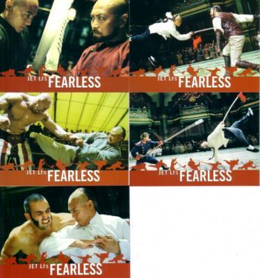Fearless movie (Jet Li) 2006 Comic-Con promo card set (5)