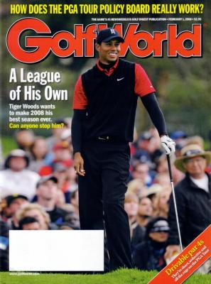 Tiger Woods 2008 Golf World magazine