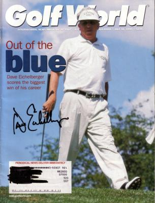 Dave Eichelberger autographed Golf World magazine