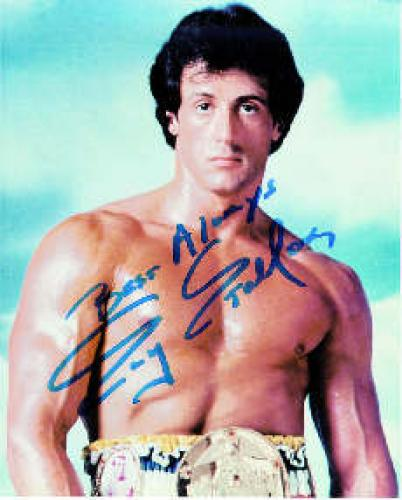 Sylvester Stallone Autograph. Sylvester Gardenzio Stallone was born on July