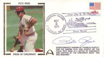 Pete Rose autographed Cincinnati Reds 1978 Pride of Cincinnati cachet envelope
