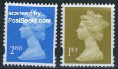 Definitives 2v (with Royal mail text over stamp)