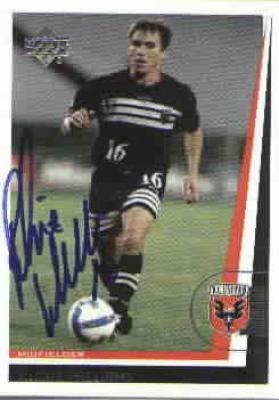 Richie Williams autographed 1999 MLS D.C. United card