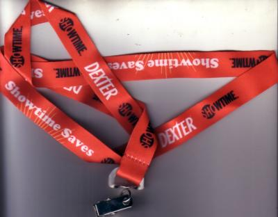 Dexter Showtime 2011 Comic-Con promo lanyard MINT