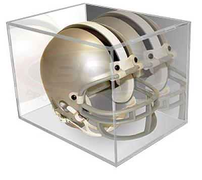 Mini helmet display case holder with mirrored back (BallQube)