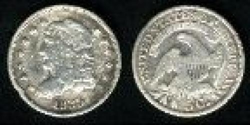 5 cents; Year: 1829-1837; Capped Bust