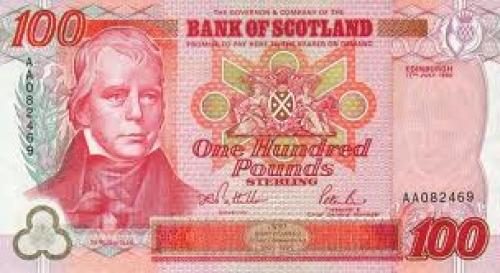 Banknotes; 100 Pounds; Scotland; United Kingdom