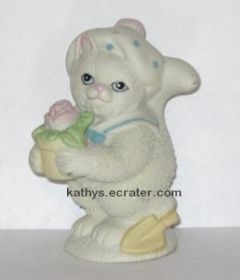 Lefton China Kitty Snowflake Cat 00996 Animal Figurine