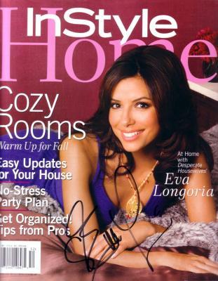 Eva Longoria autographed In Style Home magazine