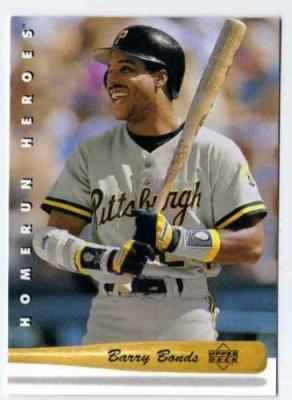 Barry Bonds 1993 Upper Deck Home Run Heroes insert card