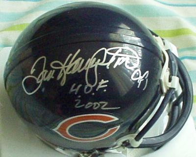 Dan Hampton autographed Chicago Bears mini helmet inscribed HOF 2002